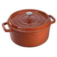 Staub Cast Iron 4-qt Round Cocotte, Burnt Orange
