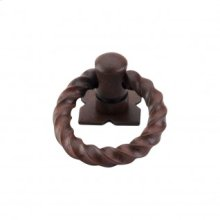 Twist Ring 1 3/8 Inch w/Backplate - Patina Rouge