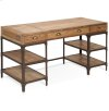 Olie - Desk With 3 Drawers, 4 Shelves