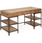 Olie - Desk With 3 Drawers, 4 Shelves Product Image