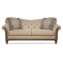 HUGHES 8725L New Siam Parchment Loveseat