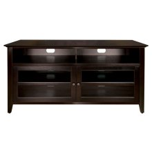 No Tools Assembly Dark Espresso Finish Wood A/V Cabinet