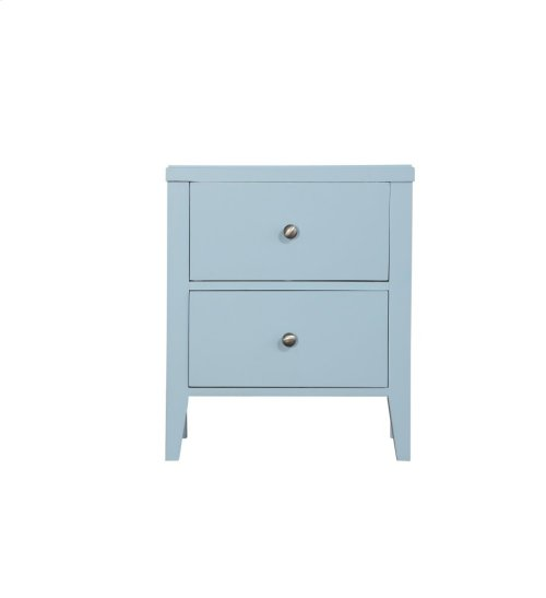 Emerald Home Home Decor 2 Drawer Nightstand-pastel Blue B371-04blu