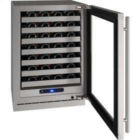"""5 Class 24"""" Wine Captain® Model With Stainless Frame (with Lock) Finish and Left-hand Hinged Door Swing (115 Volts / 60 Hz)"""