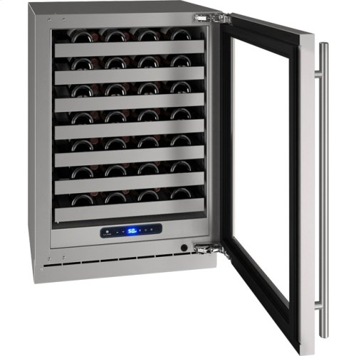 "5 Class 24"" Wine Captain® Model With Stainless Frame (with Lock) Finish and Left-hand Hinged Door Swing (115 Volts / 60 Hz)"