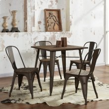 Modus 5pc Dining Set in Gunmetal