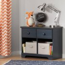 2-Drawer Double Nightstand - Blueberry Product Image