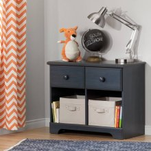 2-Drawer Double Nightstand - Blueberry