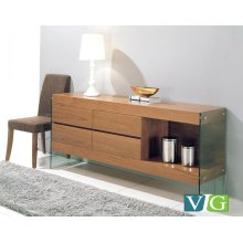 Modrest Aura Modern Walnut Buffet