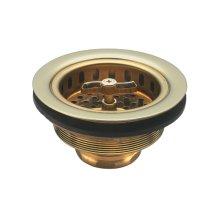 Heavy Duty Wing Nut Basket Strainer - Antique Brass