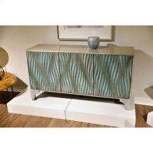TV Console - Sandy Teal Finish