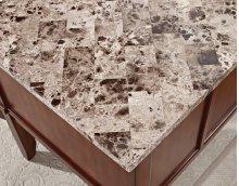 "Montibello Marble Top Writing Desk, 52"" x 28"" x 31"""