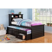 F9219 / Cat.19.p100- TWIN BED W/TRUNDLE BLK