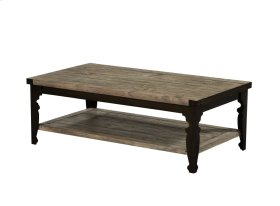 Emerald Home Valencia Cocktail Table-natural Reclaimed Pine Finish With Black Metal Legs T559-00