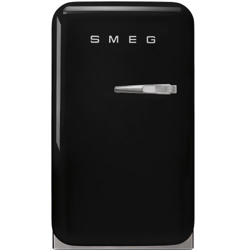 50's Retro Style Mini Refrigerator, Black, Left hand hinge