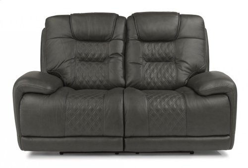 Royce Leather Power Reclining Loveseat with Power Headrests
