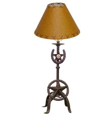 Cast Iron Table Lamp CAST036 and Shade