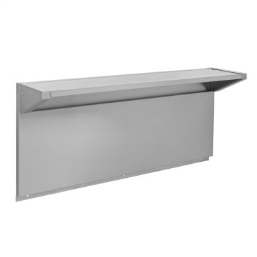 "Tall Backguard with Dual Position Shelf - for 48"" Range or Cooktop"