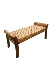 Bench, Checker Board Natural Finish Only.