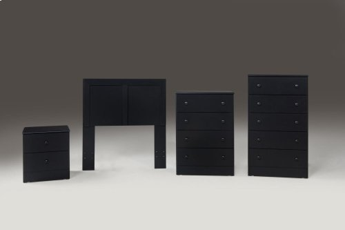 Black 5 Drawer Chest (Net Price)