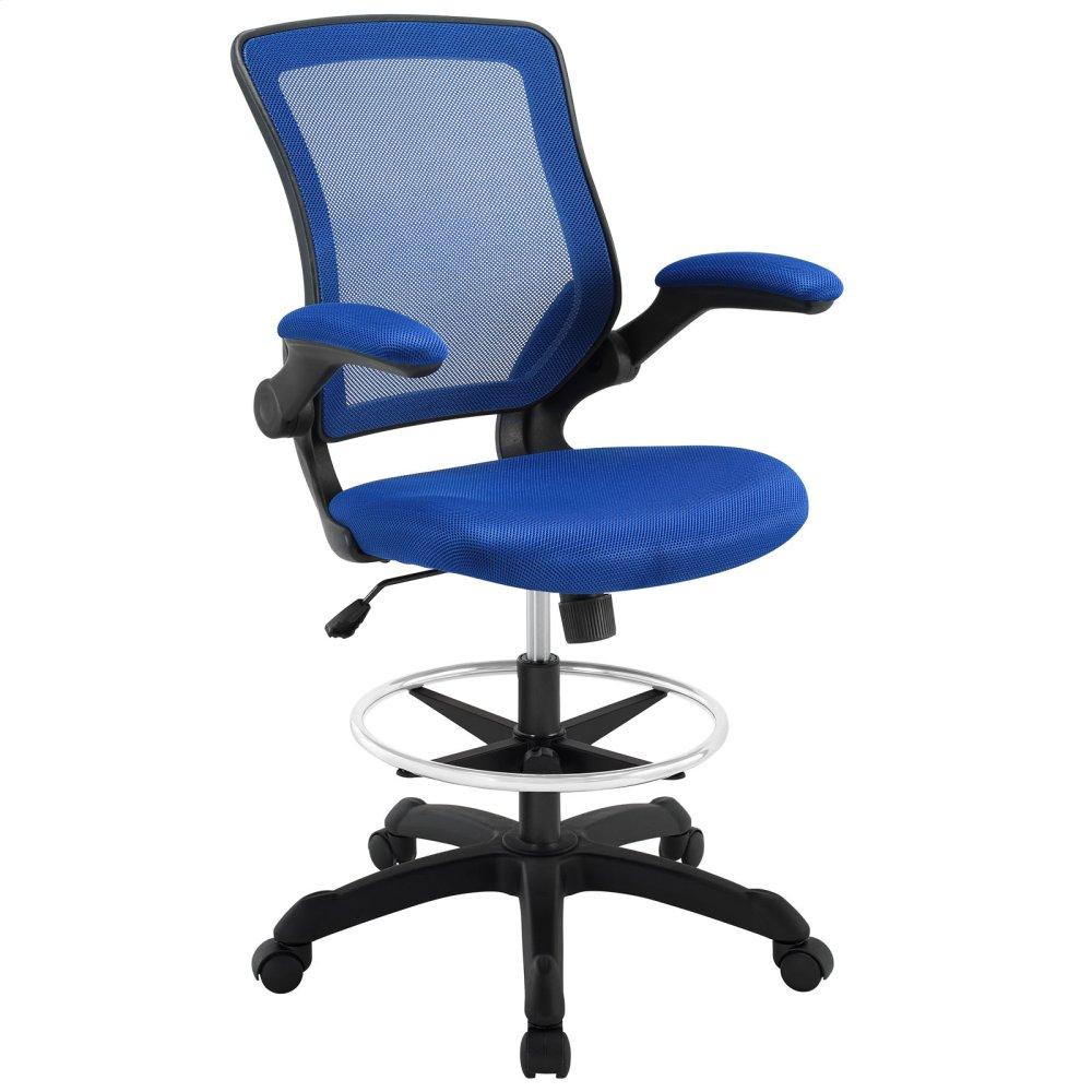 Veer Mesh Drafting Chair In Blue