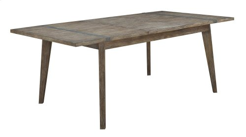 """Emerald Home Viewpoint Dining Table W/18"""" Butterfly Leaf Driftwood D977-10"""
