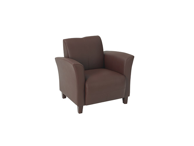 Wine Bonded Leather Breeze Club Chair