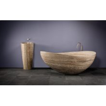 Papillon Bathtub Silver Travertine