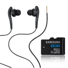 8GB Memory Card W/ Wired 3.5MM Stereo Headset
