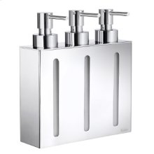 Soap Dispenser with 3 containers