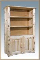 Montana Log Bookcase with Storage Product Image