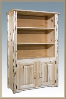 Montana Log Bookcase with Storage