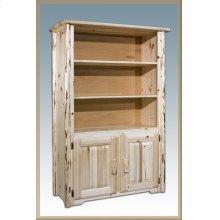 Montana Log Bookcase with Storage