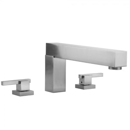 Satin Brass - CUBIX® Roman Tub Set with CUBIX® Lever Handles