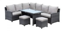 Spectrum 5 PC Sectional Dining Set w/cushion