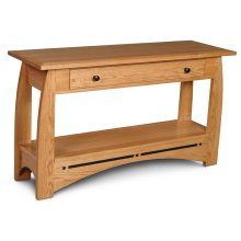 """Aspen 1-Drawer Sofa Table with Inlay, Aspen 1-Drawer Sofa Table with Inlay, 48""""w"""