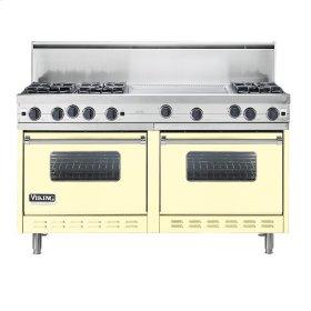 """Lemonade 60"""" Open Burner Commercial Depth Range - VGRC (60"""" wide, six burners 24"""" wide griddle/simmer plate)"""