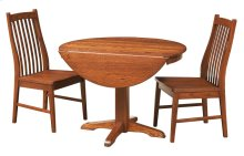 "42"" Pedestal Drop Leaf Table"