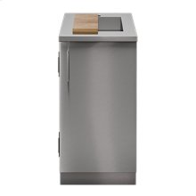 """OUTDOOR KITCHEN CABINETS IN STAINLESS STEEL  PURE 18"""" Sink Cabinet SmartStation Maple 1 Door Right Hinges"""