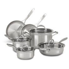 5-ply Copper Core 10-Piece Set - Stainless Steel Finish