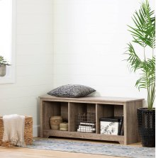 Cubby Storage Bench - Weathered Oak