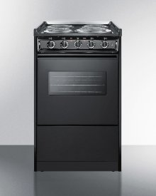 """20"""" Wide Slide-in Electric Range In Black With Oven Window, Light, and Lower Storage Compartment; Replaces Tem115rw/tem110cwrt"""