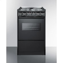 "20"" Wide Slide-in Electric Range In Black With Oven Window, Light, and Lower Storage Compartment; Replaces Tem115rw/tem110cwrt"