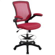 Veer Drafting Chair in Red