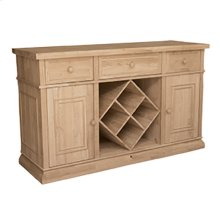 B-6WR Sturbridge Buffet with Wine Rack, also Full extension glides