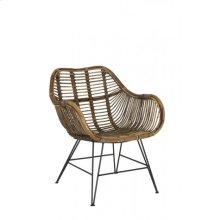 Chair 64x57x80 cm MALANG rattan brown
