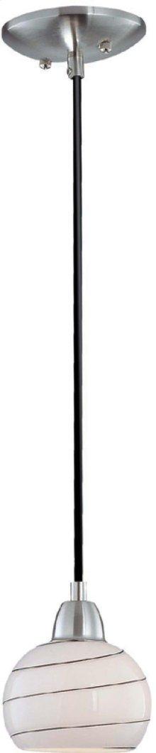 Pendant Lite, White & Black Glass Shade, E12 Type S 40w