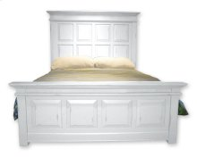 Chspk Queen Panel Bed - Wht