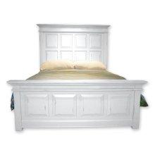 Chspk Queen Panel Bed - Wht