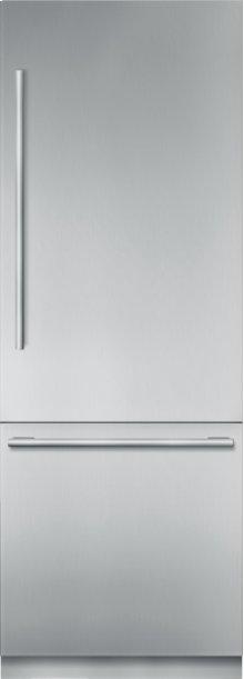 30 inch Stainless Steel Built in 2 Door Bottom Freezer, Pre-Assembled, Masterpiece® Handle T30BB910SS